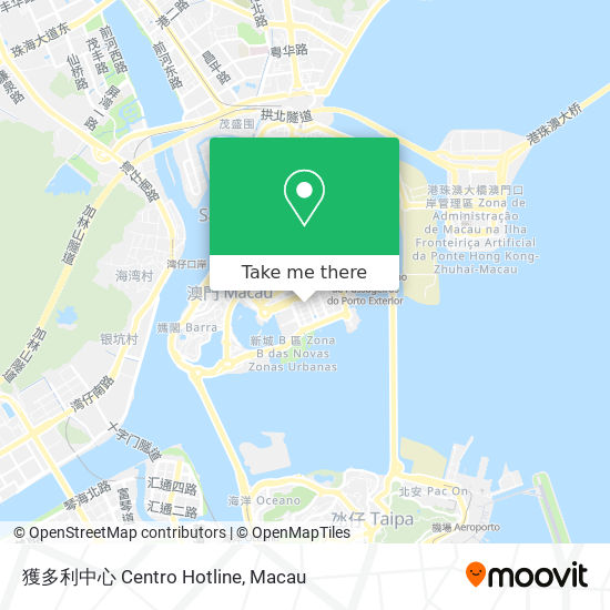 獲多利中心 Centro Hotline map