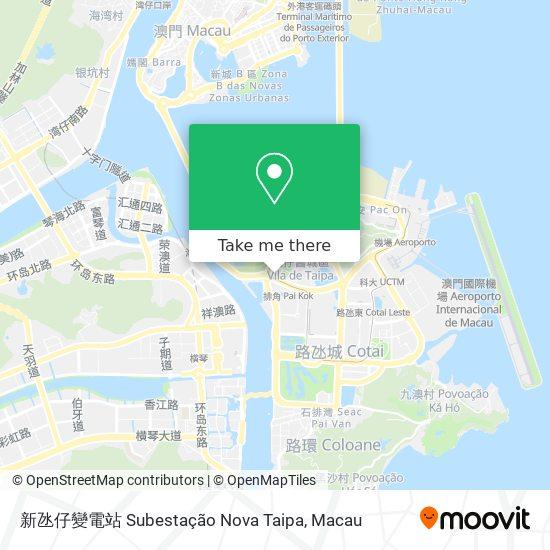 新氹仔變電站 Subestação Nova Taipa map