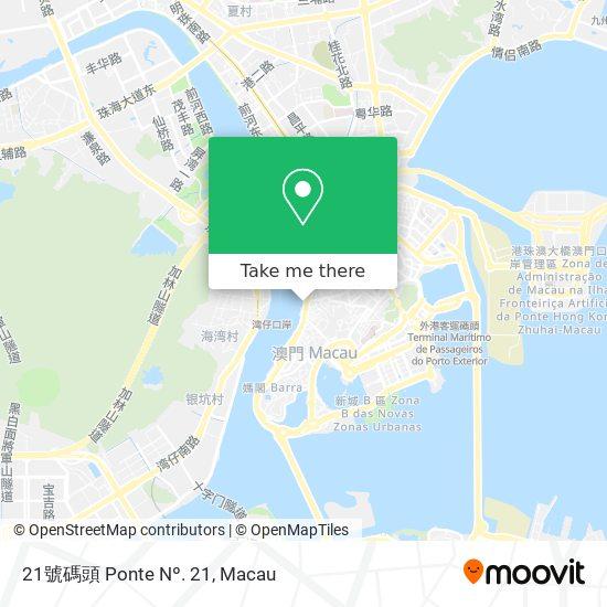 21號碼頭 Ponte Nº. 21 map
