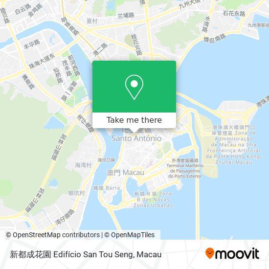 新都成花園 Edifício San Tou Seng map