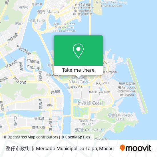 氹仔市政街市 Mercado Municipal Da Taipa map