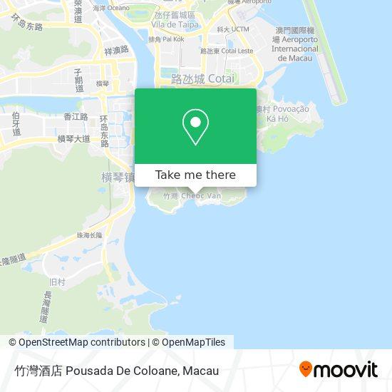 竹灣酒店 Pousada De Coloane map