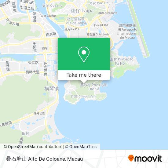 疊石塘山 Alto De Coloane map