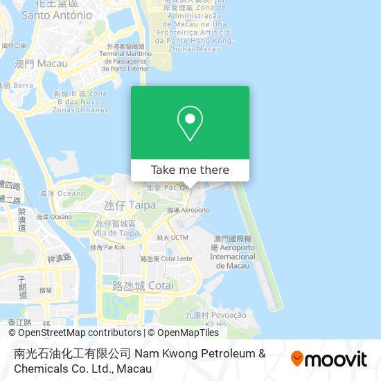 南光石油化工有限公司 Nam Kwong Petroleum & Chemicals Co. Ltd. map
