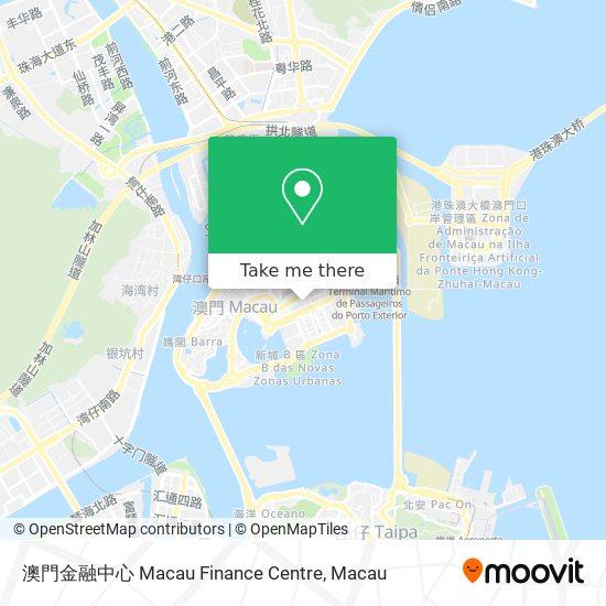 澳門金融中心 map