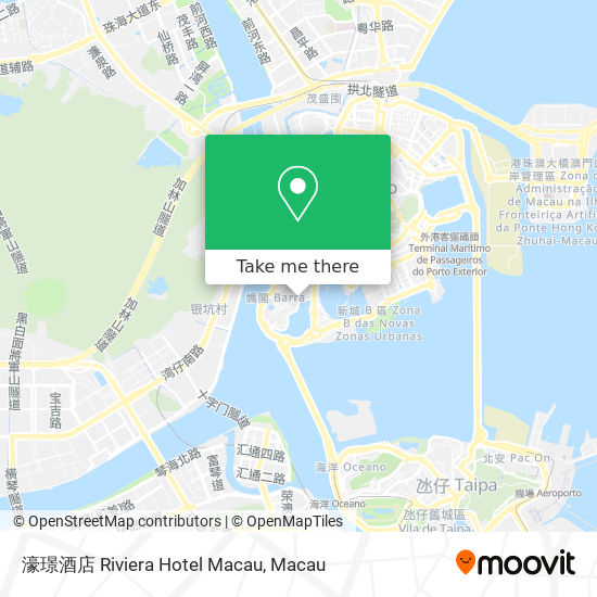 濠璟酒店 Riviera Hotel Macau map
