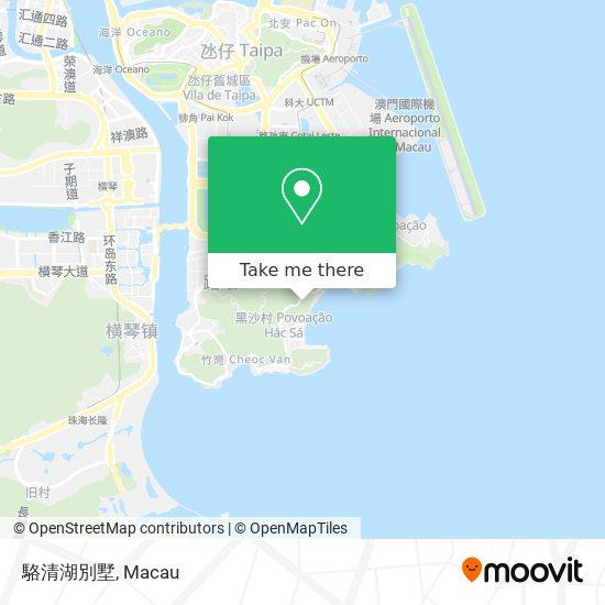 駱清湖別墅 map
