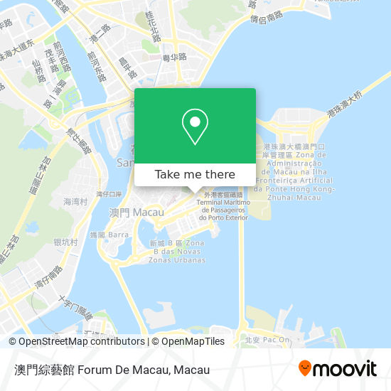 澳門綜藝館 Forum De Macau map