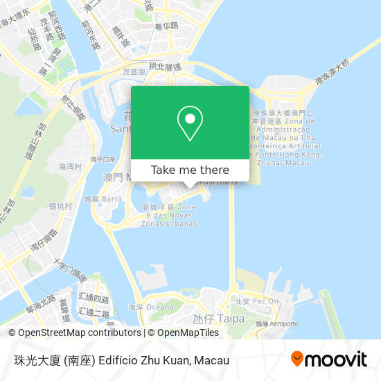 珠光大廈 (南座) Edifício Zhu Kuan map