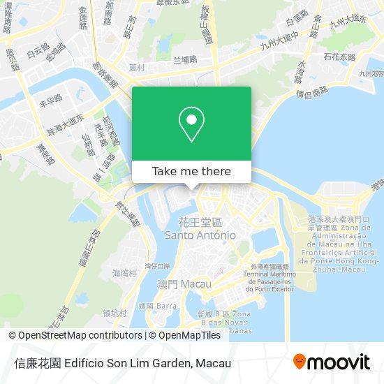 信廉花園 Edifício Son Lim Garden map