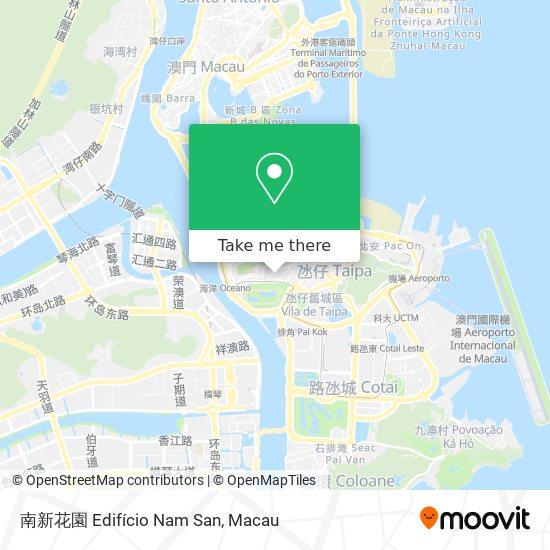 南新花園 Edifício Nam San map