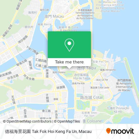 德福海景花園 Tak Fok Hoi Keng Fa Un map
