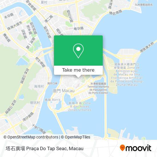 塔石廣場 Praça Do Tap Seac map