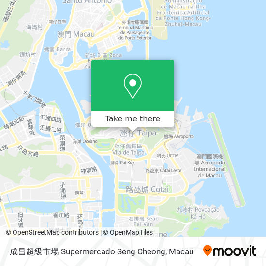 成昌超級市場 Supermercado Seng Cheong map