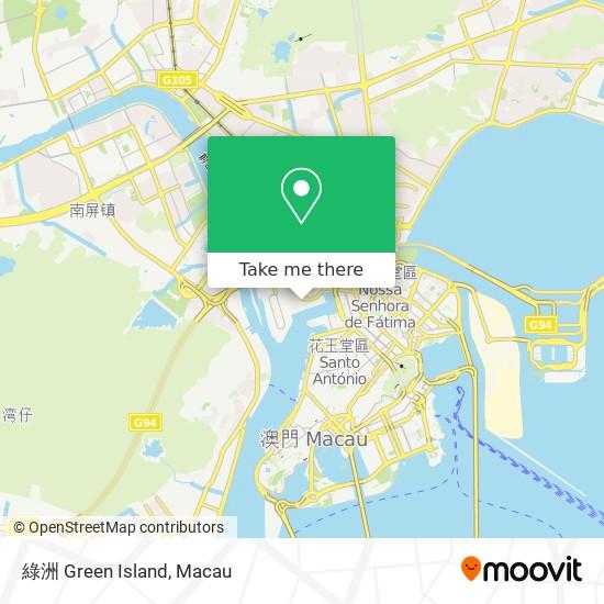 綠洲 Green Island map