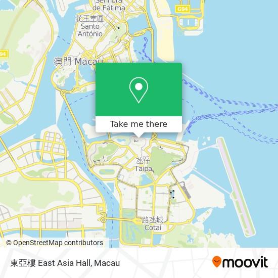 東亞樓 East Asia Hall map