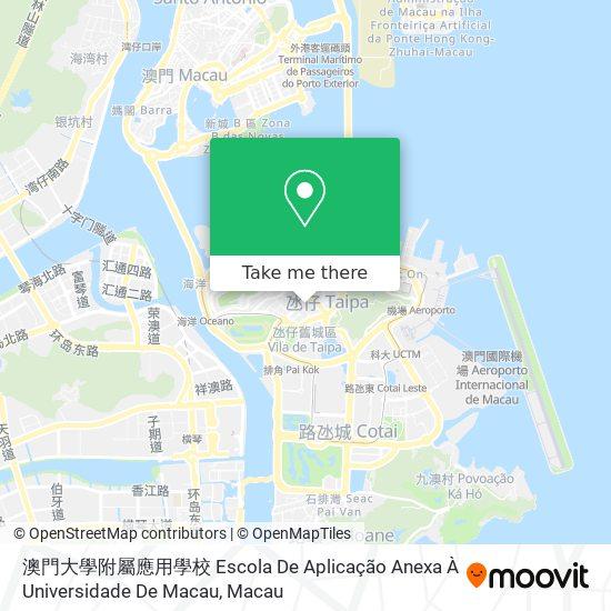 澳門大學附屬應用學校 Escola De Aplicação Anexa À Universidade De Macau map