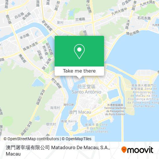 澳門屠宰場有限公司 Matadouro De Macau, S.A. map