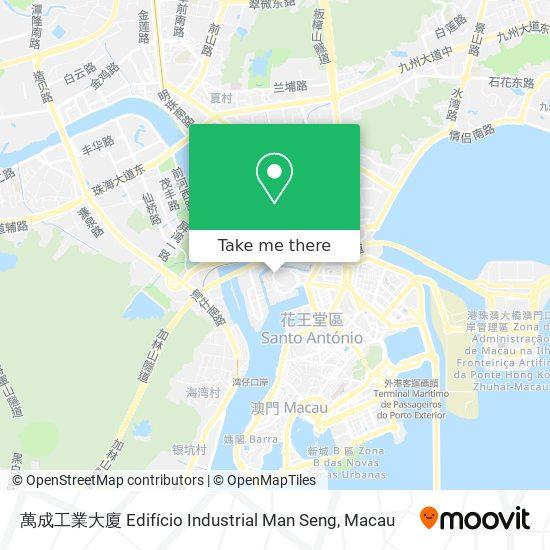 萬成工業大廈 Edifício Industrial Man Seng map