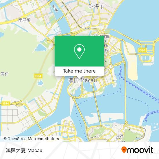 鴻興大廈 map