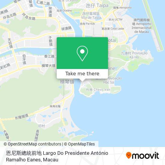 恩尼斯總統前地 Largo Do Presidente António Ramalho Eanes map