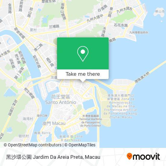 黑沙環公園 Jardim Da Areia Preta map