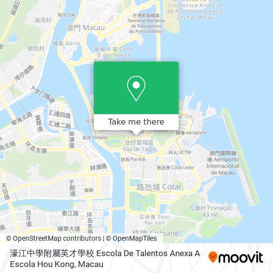 濠江中學附屬英才學校 Escola De Talentos Anexa A Escola Hou Kong map