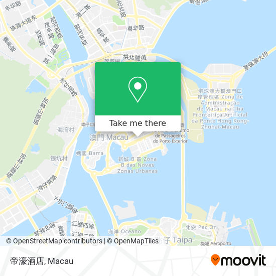 帝濠酒店 map