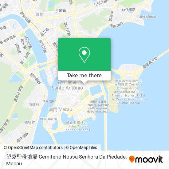 望廈墳場 Cemitério Nossa Senhora Da Piedade map