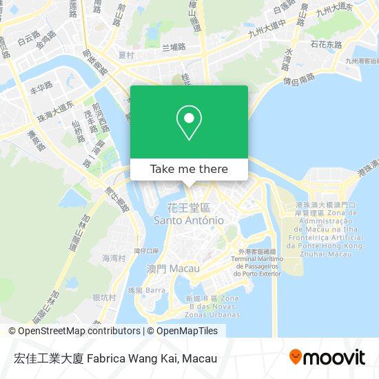 宏佳工業大廈 Fabrica Wang Kai map
