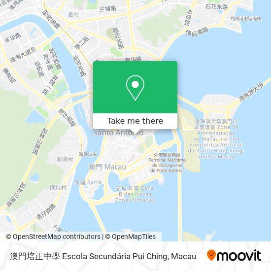 澳門培正中學 map