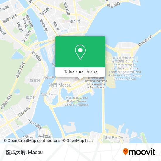 龍成大廈 map