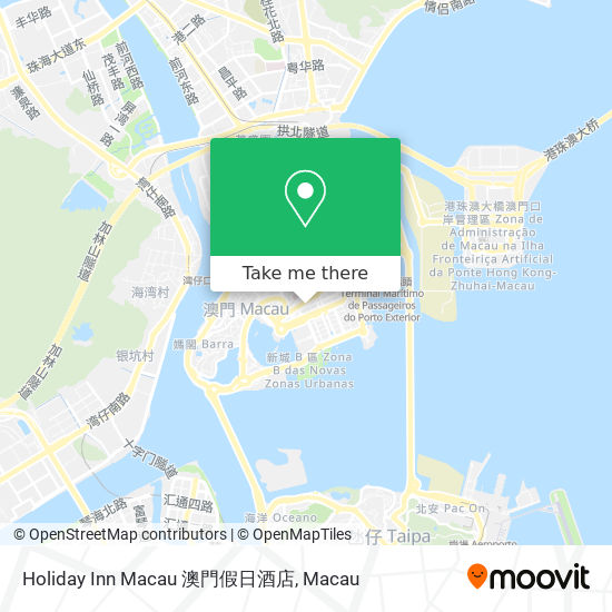 Holiday Inn Macau 澳門假日酒店 map