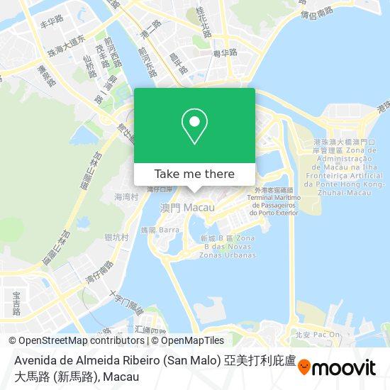 Avenida de Almeida Ribeiro (San Malo) 亞美打利庇盧大馬路 (新馬路) map