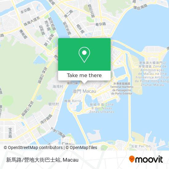 新馬路/營地大街巴士站 map