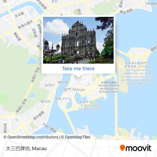 大三巴牌坊 map
