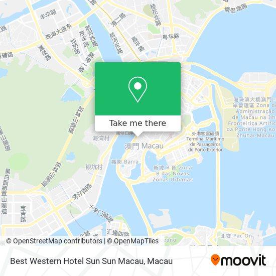 Best Western Hotel Sun Sun Macau map