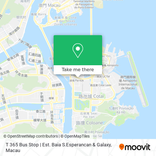 T 365 Bus Stop   Est. Baia S.Esperancan & Galaxy map
