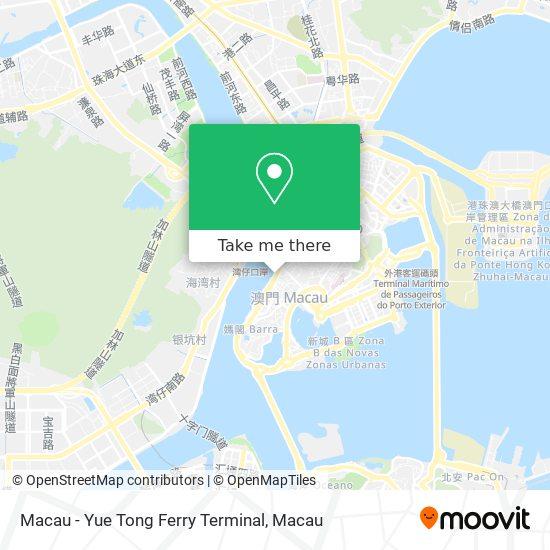 Macau - Yue Tong Ferry Terminal map
