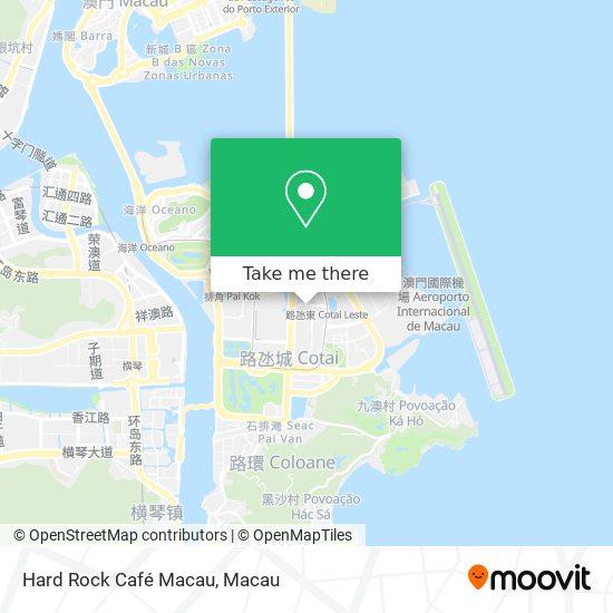 Hard Rock Café Macau map