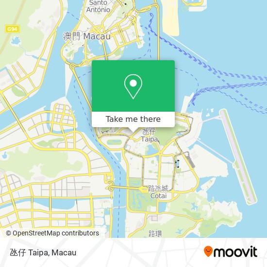 氹仔 Taipa map