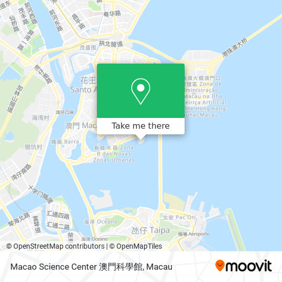 Macao Science Center 澳門科學館 map