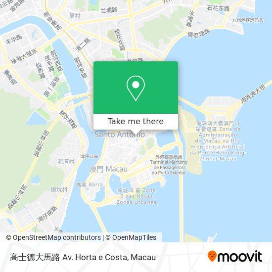 高士德大馬路  Av. Horta e Costa map