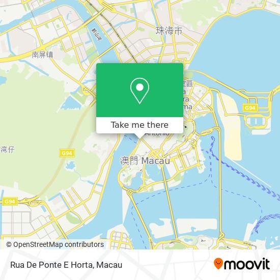 Rua De Ponte E Horta map
