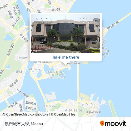 澳門城市大學 map