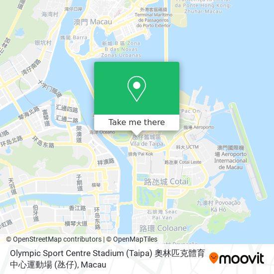 Olympic Sport Centre Stadium (Taipa) 奧林匹克體育中心運動場 (氹仔) map