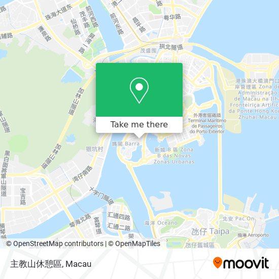 主教山休憩區 map