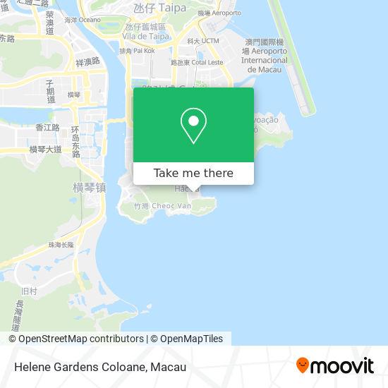 Helene Gardens Coloane map