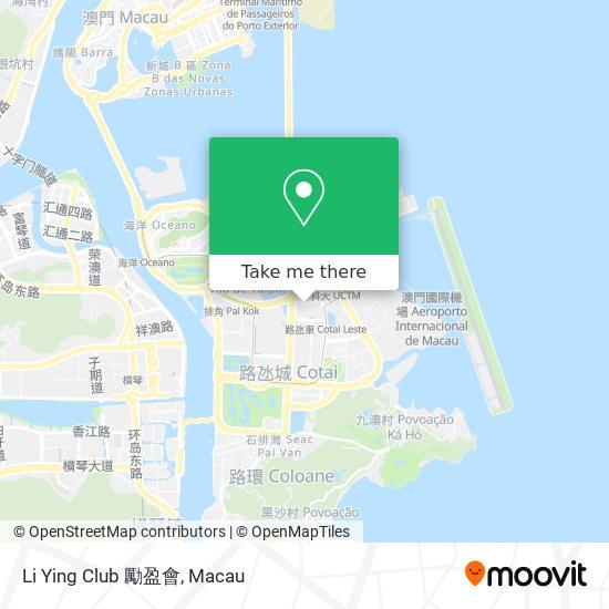 Li Ying Club 勵盈會 map