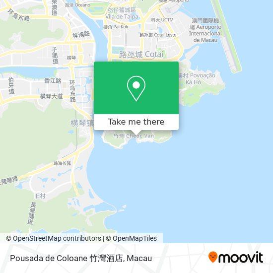 Pousada de Coloane 竹灣酒店 map